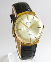 Gents 1960s Rotary Wrist Watch with Faceted Lugs (2 of 5)
