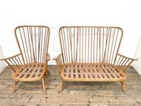 Vintage Ercol Evergreen Two Seater Sofa & Armchair (10 of 10)