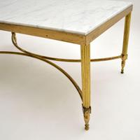Vintage Italian Solid Brass & Marble Coffee Table (5 of 9)