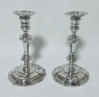 Pair of Antique Georgian 18th Century Solid Sterling Silver Candlesticks (3 of 23)