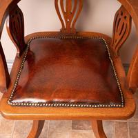 Oak Revolving Office Desk Chair (3 of 10)
