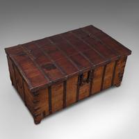 Antique Merchant's Chest, Oriental, Solid Teak, Trunk, William III c.1700 (7 of 12)
