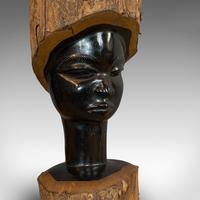 Pair Of, Antique Carved Heads, African, Ebony, Decorative Statue, Victorian (5 of 11)