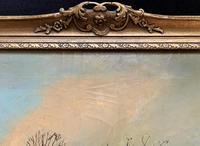 Very Large Outstanding 19th Century British Winter Snow-capped Landscape Oil Painting (12 of 13)