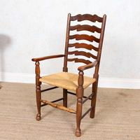 6 Oak Elm Rushwork Country Dining Chairs (2 of 10)