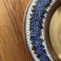19th Century Italian Olive Wood Easel Mirror - Millefiori Micro Inlaid Detail (5 of 10)