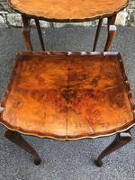 Antique Burr Walnut Nest of 3 Tables (8 of 9)