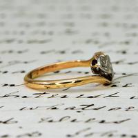 The Vintage Rosy Illusion Trio Diamond Ring (3 of 5)