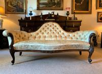 Stunning Quality Original 19th Century Carved Rosewood Cream Upholstered Sofa Settee