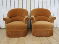 Pair Of French Crapaud Tub Armchairs (8 of 8)