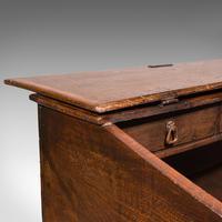Antique Verger's Table Top Desk, English, Oak, Ecclesiastical, William III 1700 (10 of 12)