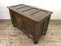 Vintage Oak Panel Blanket Box or Coffer Chest (9 of 15)