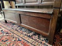 Late 18th Century Box Seated Oak Settle (9 of 19)