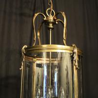 French Large Brass Four Light Antique Lantern (8 of 10)