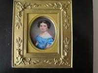 Miniature Portrait Young Girl in Period Frame C.1860 (3 of 5)