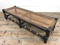 Early 20th Century Turned Oak Footstool with Cane Top (6 of 12)