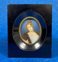 1920s Signed Ebonised Painted Miniature Frame (10 of 10)