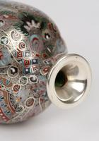 Oriental, Chinese / Japanese Exceptional Silver Metal Cloisonne Vase (23 of 25)