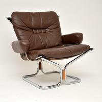 1960's Pair of Leather & Chrome Armchairs by Ingmar Relling (8 of 12)