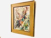 A Stunning Original Gabrielle Bouffay Watercolour Painting L'Oiseau Bleu 1968 (6 of 7)