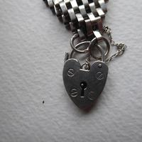 Sterling Silver Chunky Heart Padlock Bracelet (2 of 5)