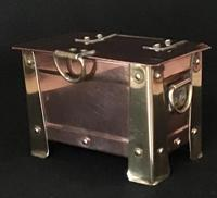 Arts and Crafts Copper and Brass Casket