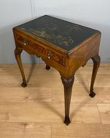 Lacquered Walnut Table with Drawer (4 of 9)