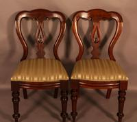 Set of 12 Victorian Spear Point Balloon Back Dining Chairs (7 of 11)