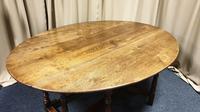Superb 10/12 Seat Oak Drop Leaf Wake Table (11 of 15)