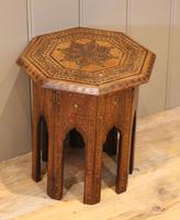 Small Anglo Indian Hexagonal Teakwood Table (7 of 7)