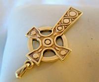 9ct Gold Large Celtic Cross Religious Pendant 2002 London 4.5cm Length 7.1 Grams (5 of 11)