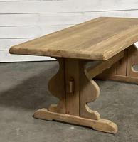 French Oak Trestle Farmhouse Dining Table (13 of 14)