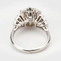 Art Deco Diamond 4.30 Carat Solitaire Engagement Ring c.1930 (3 of 6)