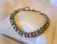 "Antique Bracelet 1890s Victorian Silver Nickel Fancy Link 7 1/2"" Length 13.6 Grams (2 of 12)"