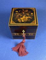 Victorian Rosewood Single Tea Caddy with Micro Mosaic Tunbridge Ware Inlay (2 of 11)