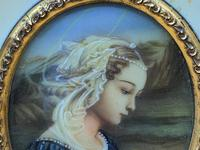 Fabulous early 1900s Italian Miniature Oil Portrait Painting - Stunning Frame!' (3 of 11)