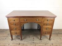 Antique Edwardian Inlaid Mahogany Desk (3 of 12)