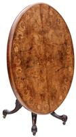 Victorian Burr Walnut Marquetry Oval Loo Breakfast Table Tilt Top (3 of 11)