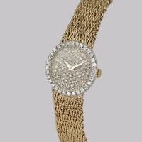 Bueche Girod for Roy King Diamond Bracelet Watch Ladies Vintage 9ct Gold 1.5 carat Diamond Watch Hallmarked 1979 (3 of 19)