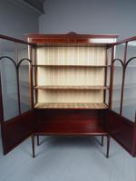Antique Sheraton Style Inlaid Mahogany Display Cabinet (3 of 18)