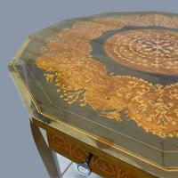 Italian Dodecagon Marquetry Musical Side Table (8 of 8)