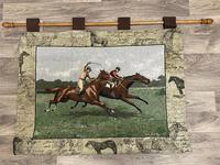 Sporting Wall Tapestry Scottish Horse Trainers Racing Glenrothes Scotland Signed (2 of 27)