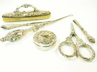 Cased Edwardian Hallmarked Silver Grooming Set (3 of 11)