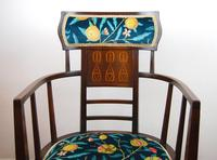Arts & Crafts Inlaid Armchair by J S Henry 'London' (5 of 9)