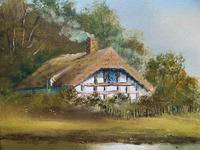 Lovely 'Chocolate Box Quality' Vintage 20thc English Landscape Oil Painting (8 of 15)