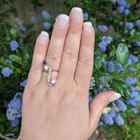 Antique Edwardian 15ct Gold Diamond & Sapphire Upfinger Dress Ring (7 of 12)
