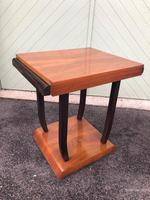 Art Deco Walnut & Ebonised Table (9 of 9)