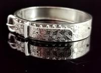 Antique Victorian Silver Buckle Bangle (4 of 11)