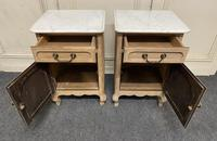Pair of French Bleached Oak Bedside Cupboards (6 of 13)