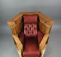 Rare Carved Linenfold Oak Pulpit Reading Chair (5 of 7)